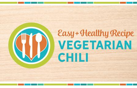 Vegetarian Chili recipe header