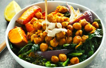 Sweet Potato and Chickpea Buddha Bowl