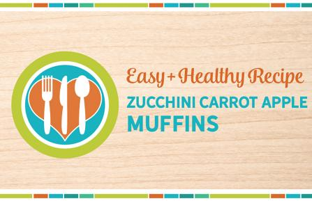 Zucchini Carrot Apple Muffins recipe label