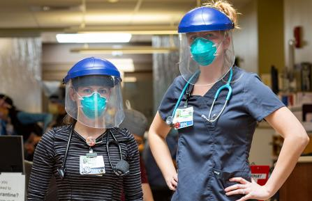 Two Cheshire Medical Center nurses.