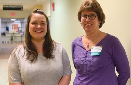 Two Cheshire Medical Center nurses