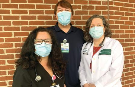 Members of Cheshire Medical Center's Urgent Care Staff
