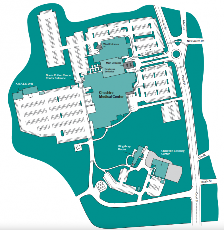 campus map for Cheshire medical center